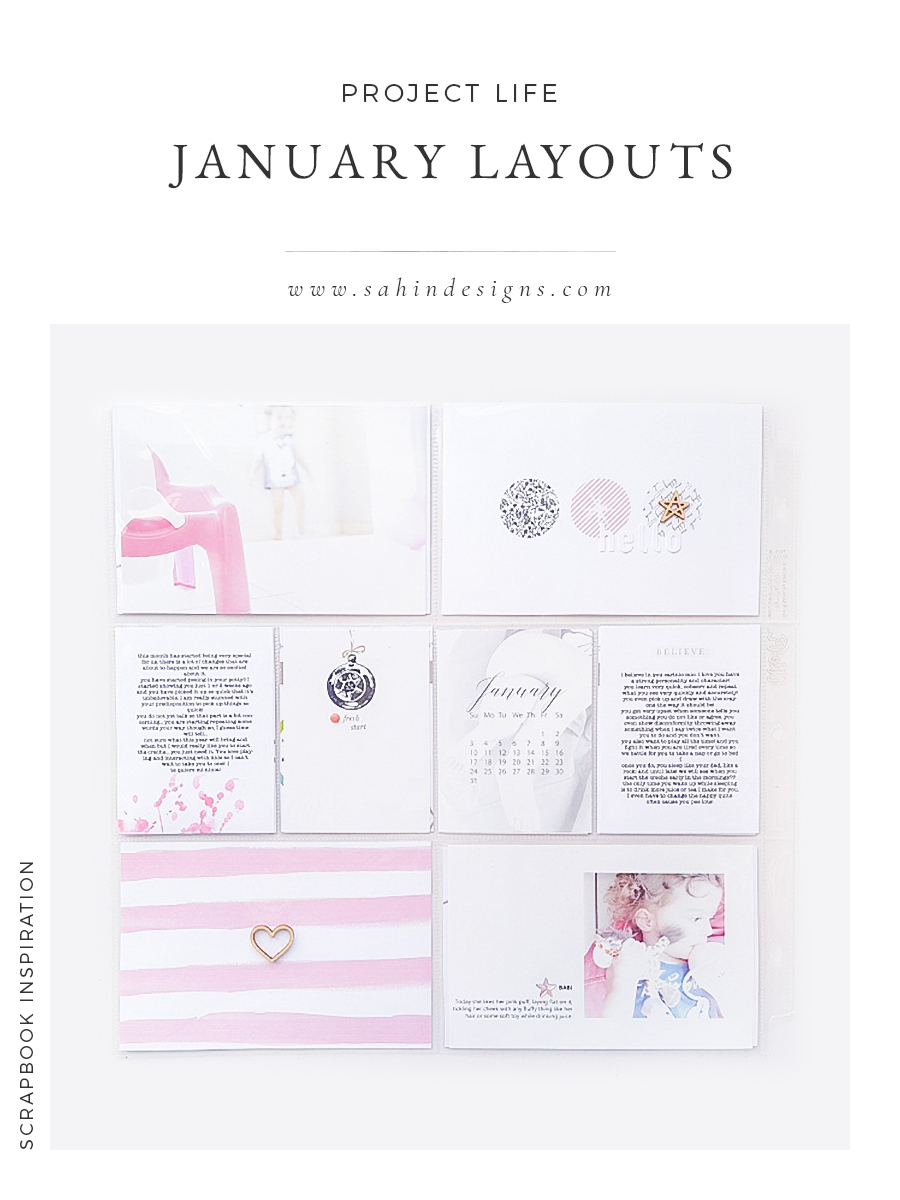 Project Life January 2016 Layouts - Sahin Designs