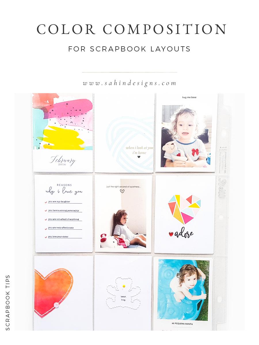 Color Composition for Pocket Scrapbook Layouts - Sahin Designs