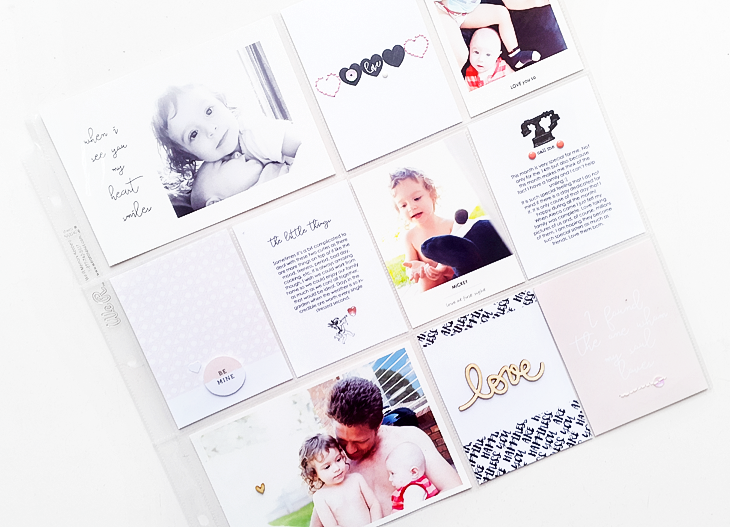 Love Pocket Layout - Sahin Designs - Hybrid Scrapbook Inspration