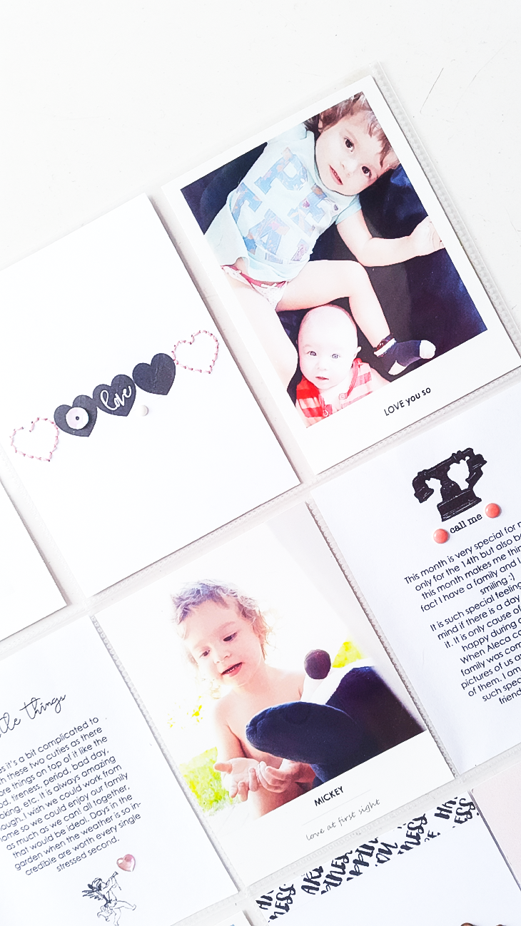 Love Pocket Layout - Sahin Designs - Hybrid Scrapbook Inspration