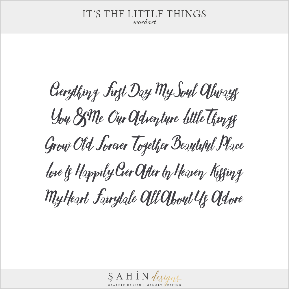It's The Little Things Free Digital Scrapbook Kit - Sahin Designs