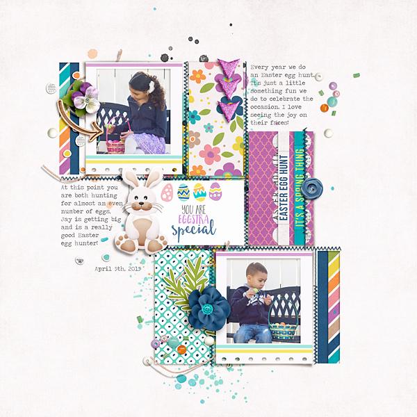 Digital Scrapbook Layout - Sahin Designs