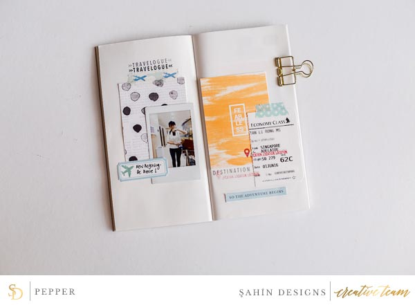 Hybrid pocket scrapbook layout using Fearless collection by Sahin Designs. Click thru to see more inspirations. Pin & save for later!