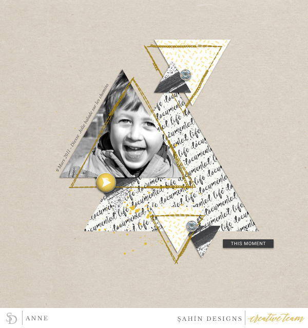 Digital scrapbook layout using Recorded collection by Sahin Designs. Click thru to see more inspirations. Pin & save for later!