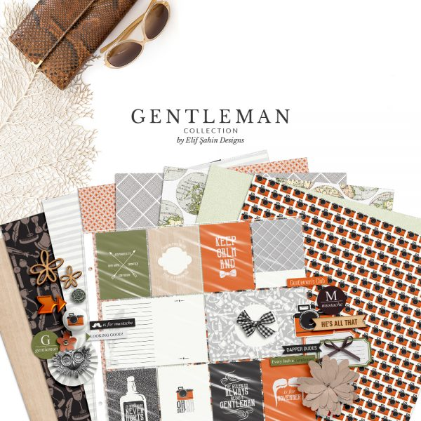 Gentleman Digital Scrapbook Collection by Sahin Designs. Click to download the kit. Pin & save for later!