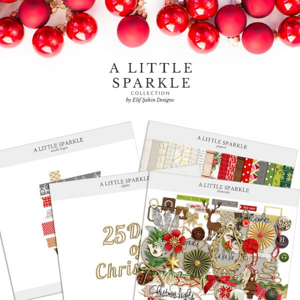 A Little Sparkle Digital Scrapbook Collection by Sahin Designs. Click to download the kit. Pin & save for later!