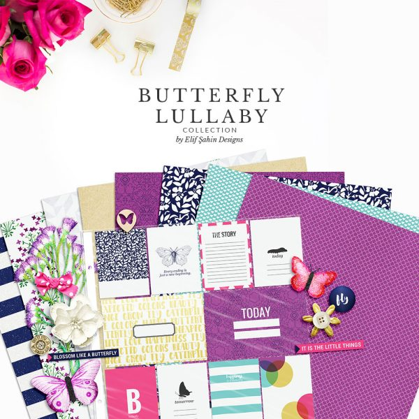 Butterfly Lullaby Digital Scrapbook Collection by Sahin Designs. Click to download the kit. Pin & save for later!