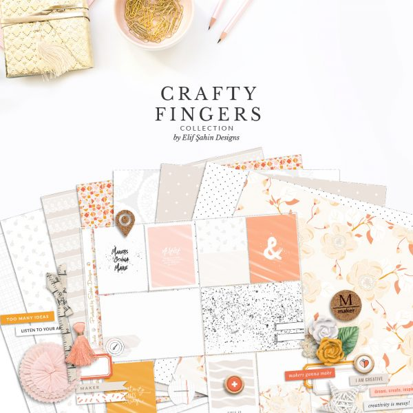 Crafty Fingers Digital Scrapbook Collection by Sahin Designs. Click to download the kit. Pin & save for later!