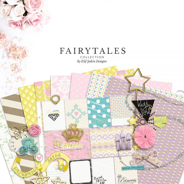 Fairy Tales Digital Scrapbook Collection by Sahin Designs. Click to download the kit. Pin & save for later!
