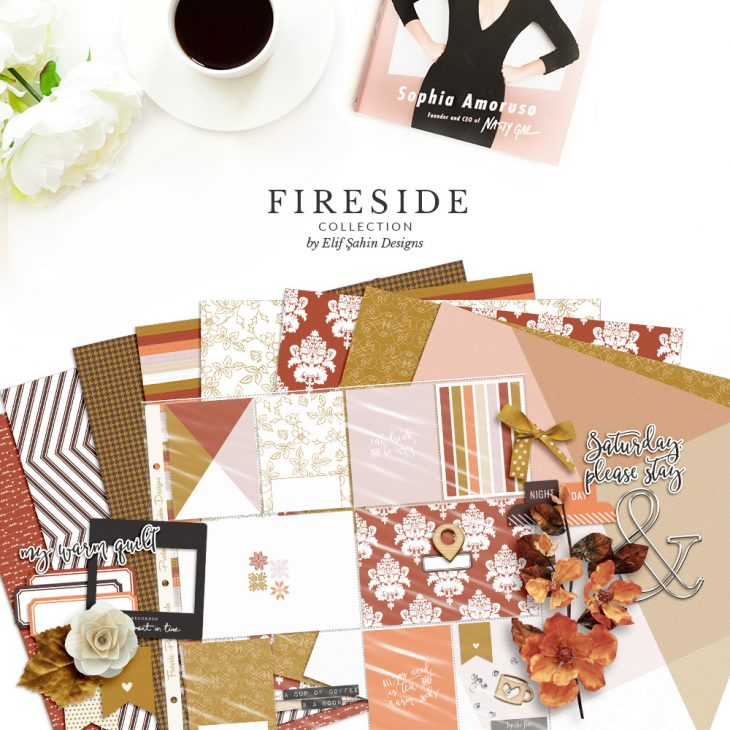 Fireside Digital Scrapbook Collection by Sahin Designs. Click to download the kit. Pin & save for later!
