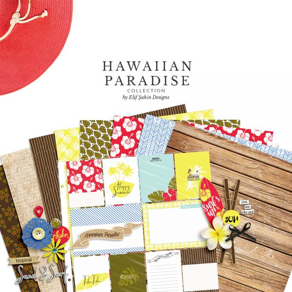 Hawaiian Paradise Digital Scrapbook Collection by Sahin Designs. Click to download the kit. Pin & save for later!