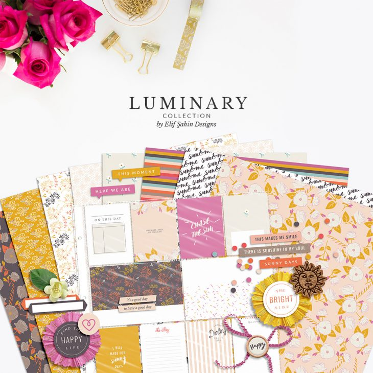Luminary Digital Scrapbook Collection by Sahin Designs. Click to download the kit. Pin & save for later!