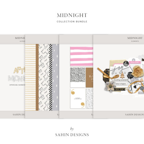 Midnight Digital Scrapbook Collection - Sahin Designs