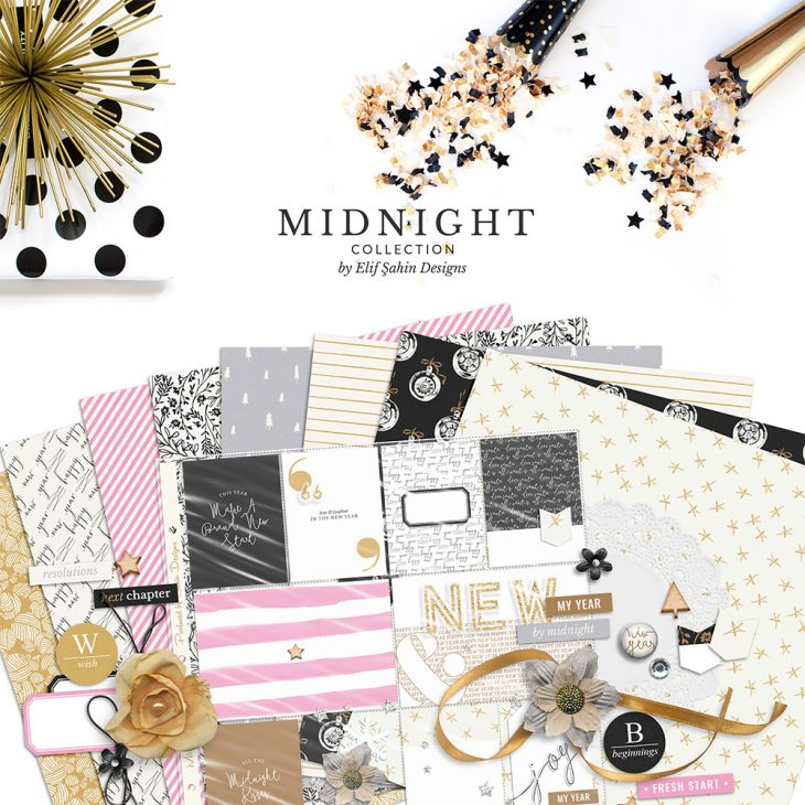 Midnight Digital Scrapbook Collection by Sahin Designs. Click to download the kit. Pin & save for later!