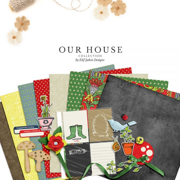 Our House-Garden Digital Scrapbook Collection by Sahin Designs. Click to download the kit. Pin & save for later!