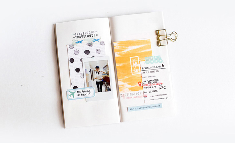 How I Used Digital Scrapbook Products in Traveler's Notebook on Sahin Designs. Click thru to get inspired with a simple and fun way of memory keeping.