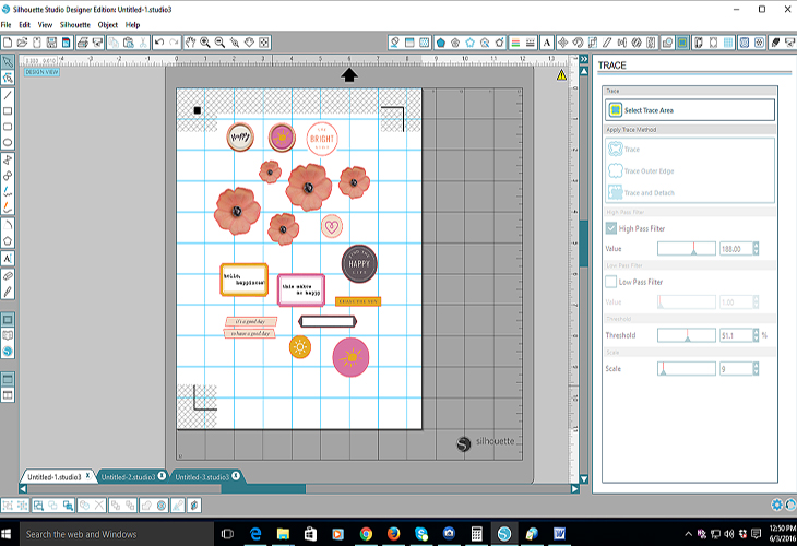 A tip for how you can use digital scrapbook supplies in your cut machine and make your own desired look. A perfect way to make distinctive hybrid scrapbook layouts! Click to read on the tutorial. Pin & save for a later time!