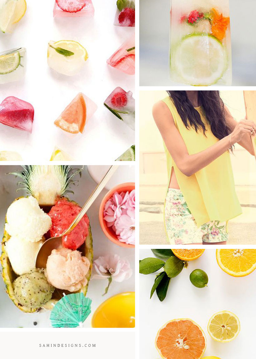 Lemonade Moodboard on Sahin Designs. Click, take a peek at what is going on behind the scenes and get design ideas. Pin & save this moodboard to your design inspiration board!