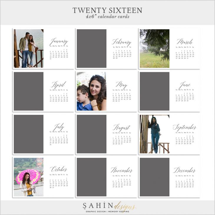 2016 Printable Calendar Pocket Cards by Sahin Designs. Click to download the kit. Pin & save for later!