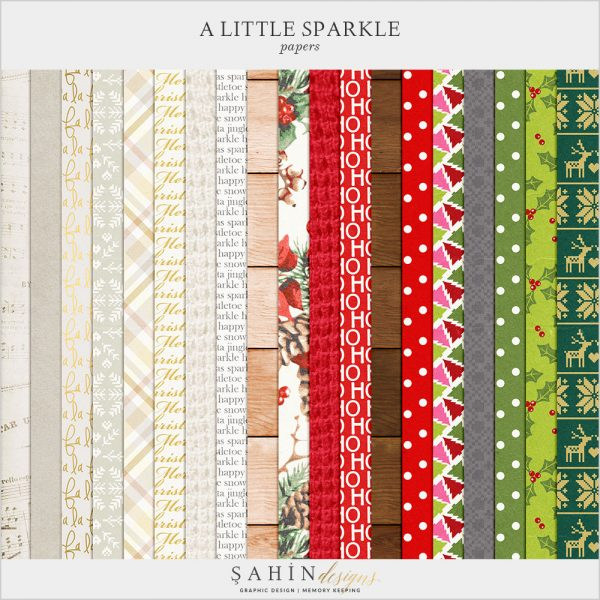 A Little Sparkle Scrapbook Papers by Sahin Designs. Click to download the kit. Pin & save for later!