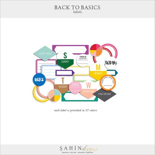 Back to Basics Digital Scrapbook Labels by Sahin Designs. Click to download the kit. Pin & save for later!