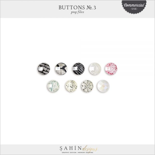 Buttons No.3 by Sahin Designs. Commercial Use Digital Scrapbook Supplies. Click to download the kit. Pin & save for later!