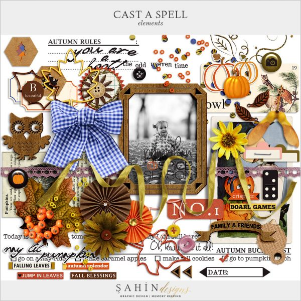 Cast A Spell Digital Scrapbook Elements by Sahin Designs. Click to download the kit. Pin & save for later!