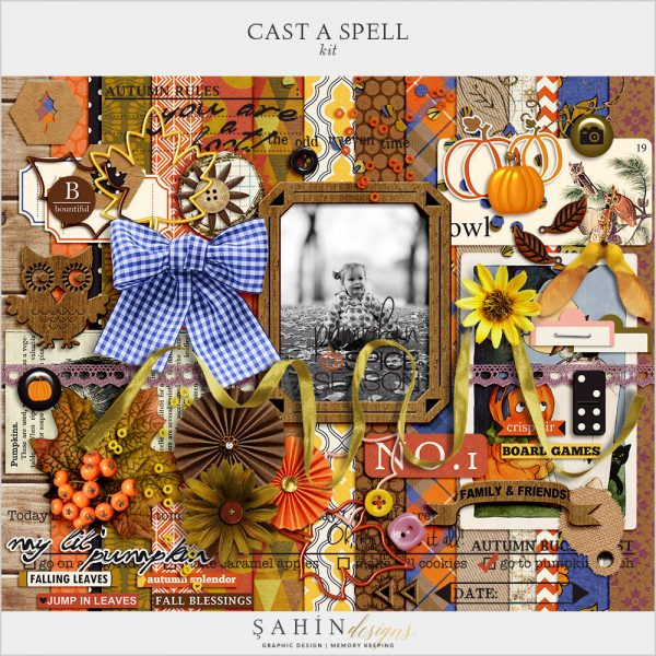 Cast A Spell Digital Scrapbook Kit by Sahin Designs. Click to download the kit. Pin & save for later!