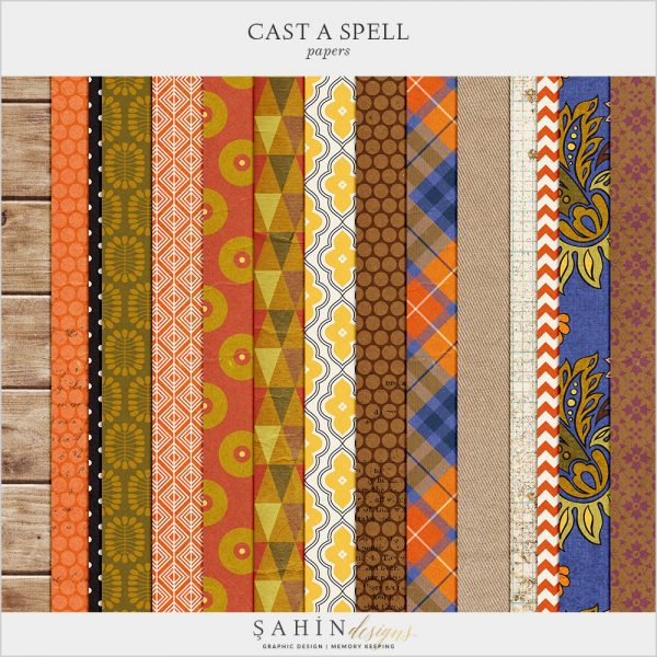 Cast A Spell Digital Scrapbook Papers by Sahin Designs. Click to download the kit. Pin & save for later!