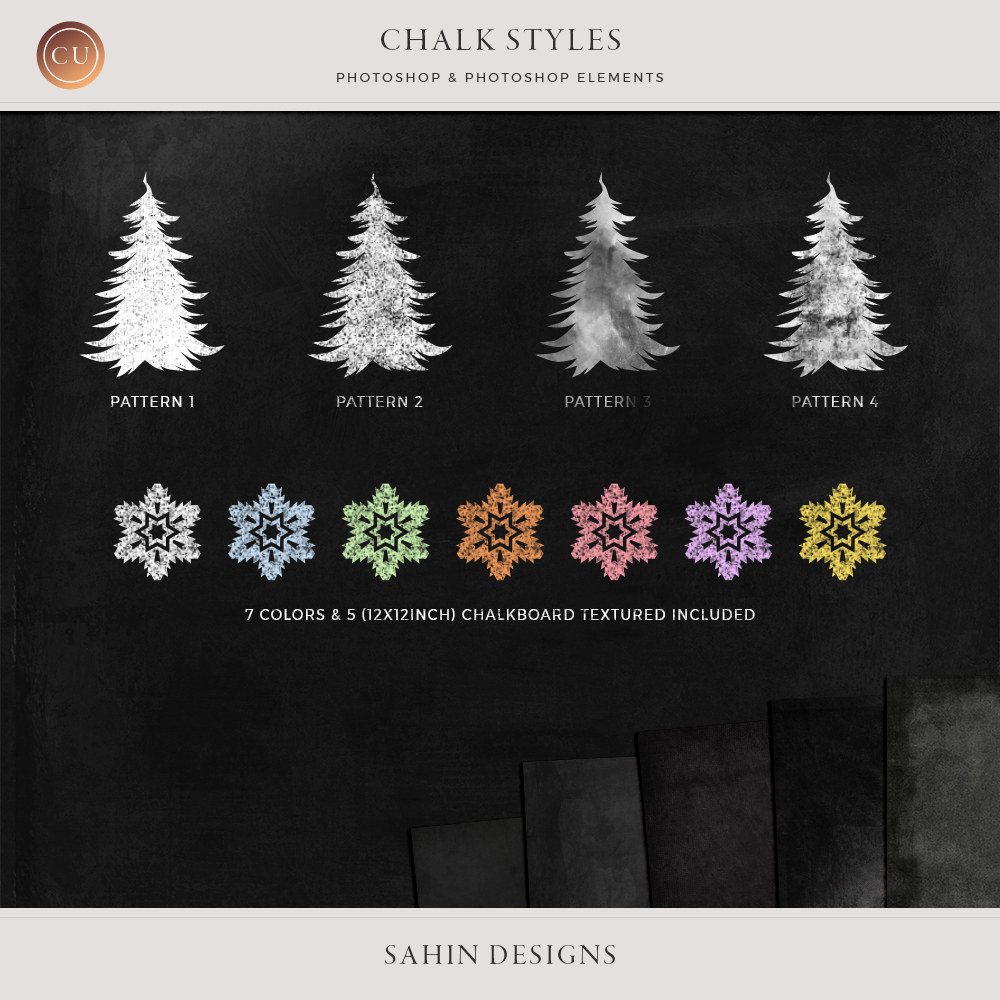 Chalk Photoshop Styles by Sahin Designs. Click to download the kit. Pin & save for later!