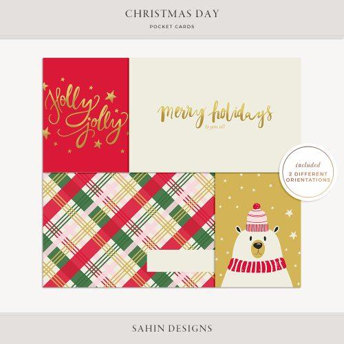 Christmas Day Printable Pocket Cards - Sahin Designs