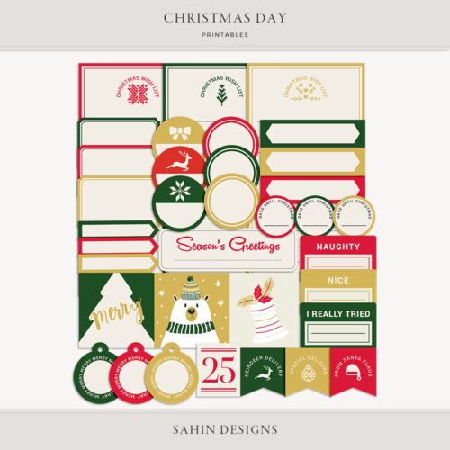 santa, bear, christmas, xmas, holiday, merry, holly, jolly, ho ho, shopping, wish, jingle, season, greetings, christmas tree, printable, label,
