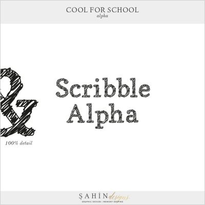 Cool For School Digital Scrapbook Alpha by Sahin Designs. Click to download the kit. Pin & save for later!