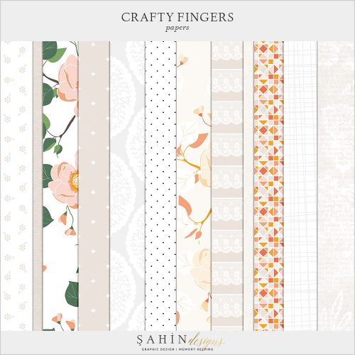 Crafty Fingers Digital Scrapbook Papers by Sahin Designs. Click to download the kit. Pin & save for later!