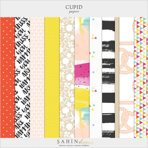 Cupid Digital Scrapbook Papers by Sahin Designs. Click to download the kit. Pin & save for later!