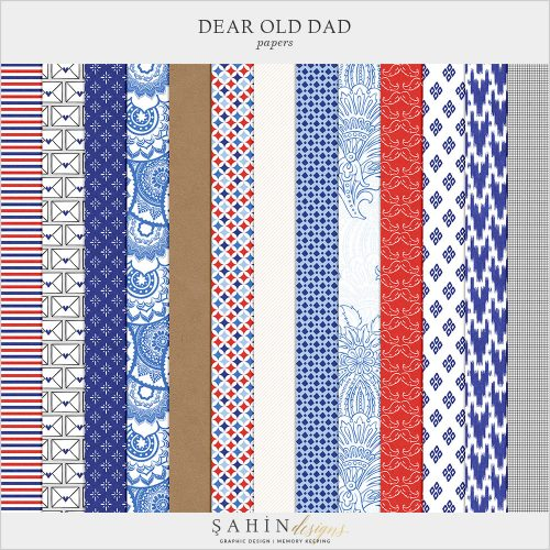 Dear Old Dad Digital Scrapbook Papers by Sahin Designs. Click to download the kit. Pin & save for later!