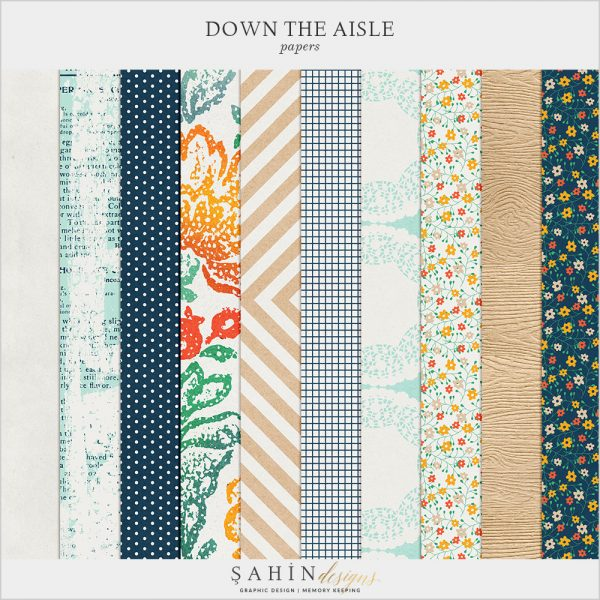 Down The Aisle Digital Scrapbook Papers by Sahin Designs. Click to download the kit. Pin & save for later!