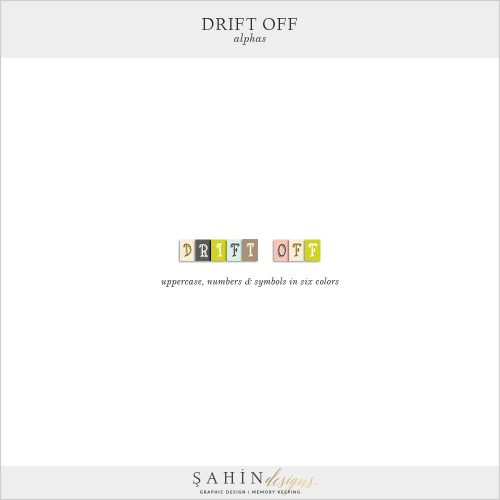 Drift Off Digital Scrapbook Alphas by Sahin Designs. Click to download the kit. Pin & save for later!