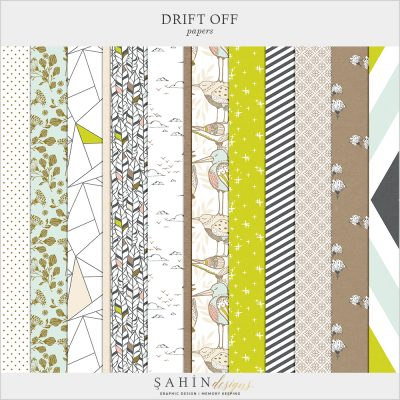 Drift Off Digital Scrapbook Papers by Sahin Designs. Click to download the kit. Pin & save for later!