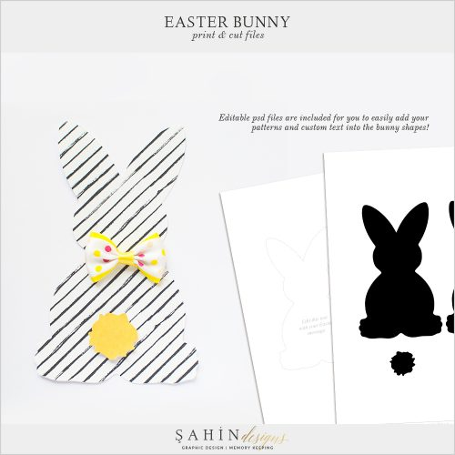 Easter Bunny Print and Cut Files by Sahin Designs. Click to download the kit. Pin & save for later!