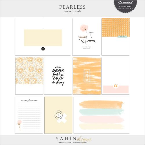 Fearless Digital Scrapbook Pocket Cards by Sahin Designs. Click to download the kit. Pin & save for later!