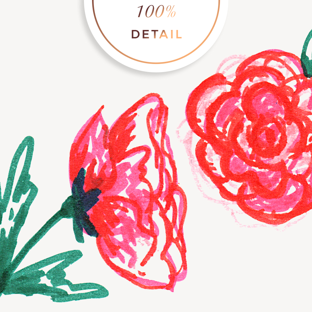 Flower Sketches No.1 by Sahin Designs - Commercial Use Digital Scrapbook Supplies
