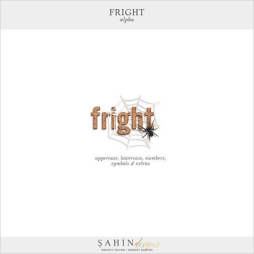 Fright Digital Scrapbook Alpha by Sahin Designs.