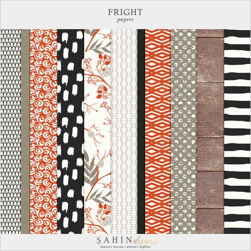 Fright Digital Scrapbook Papers by Sahin Designs.