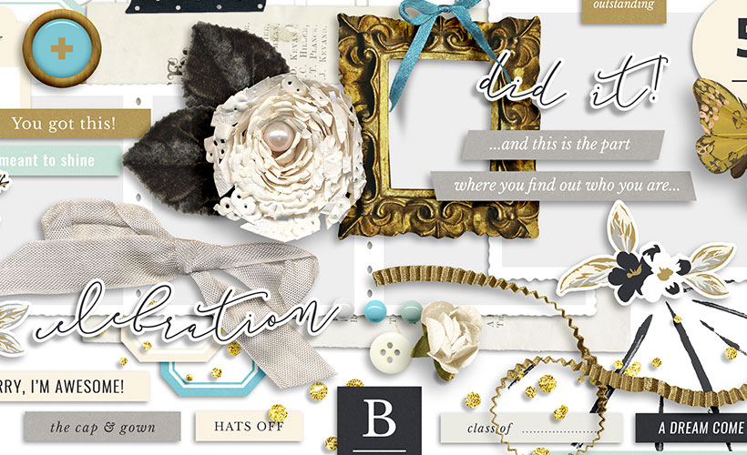 Grad Digital Scrapbook Collection by Sahin Designs. Click to download the kit. Pin & save for later!