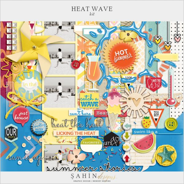 Heat Wave Digital Scrapbook Kit by Sahin Designs. Click to download the kit. Pin & save for later!