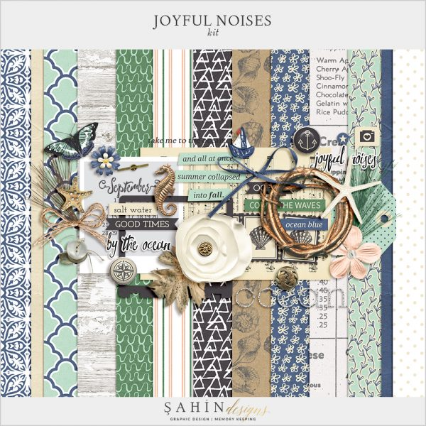 Joyful Noises Digital Scrapbook Kit by Sahin Designs. Click to download the kit. Pin & save for later!