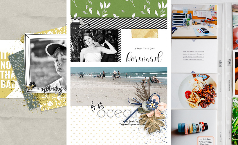 June creative gallery on Sahin Designs / Scrapbook layout inspirations. Click thru to have a look at all the layouts.