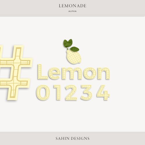Lemonade Digital Scrapbook Alpha - Sahin Designs