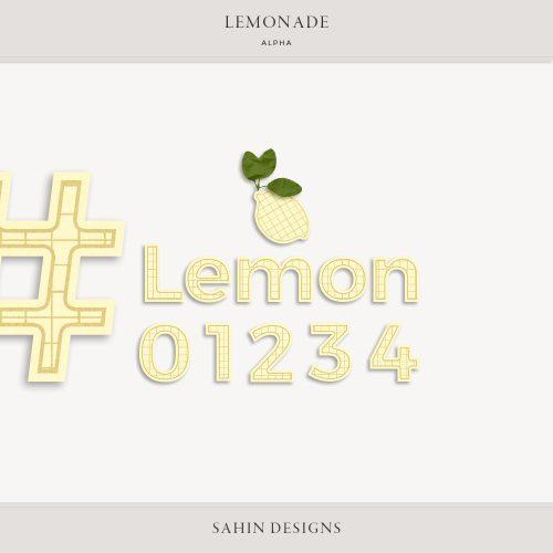 Lemonade Digital Scrapbook Alpha - Sahin Designs